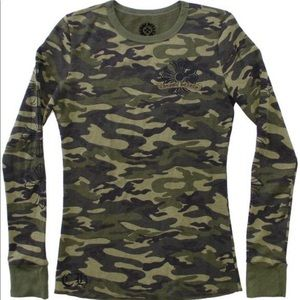 Chrome Hearts camo long sleeve T-shirt